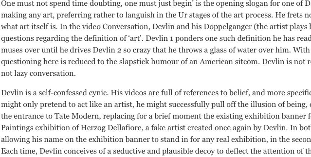 Just Begin, Daniel Devlin!