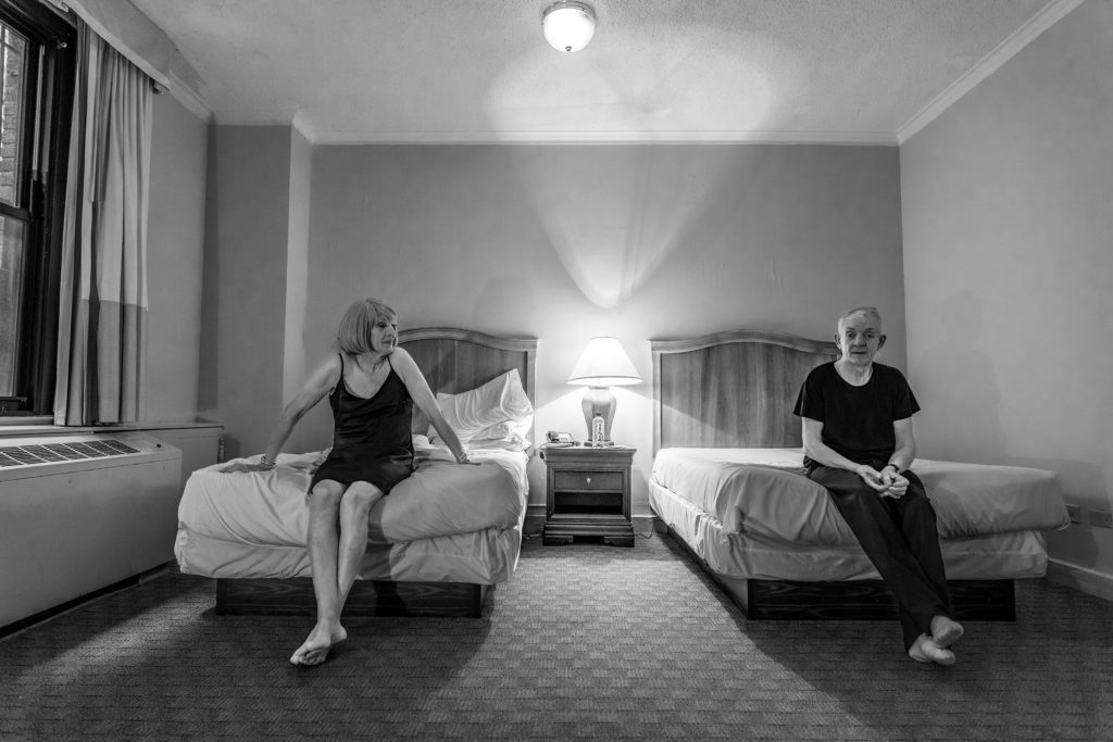 Hotel Pennsylvania: portrait of Dawn and Brian, 2017