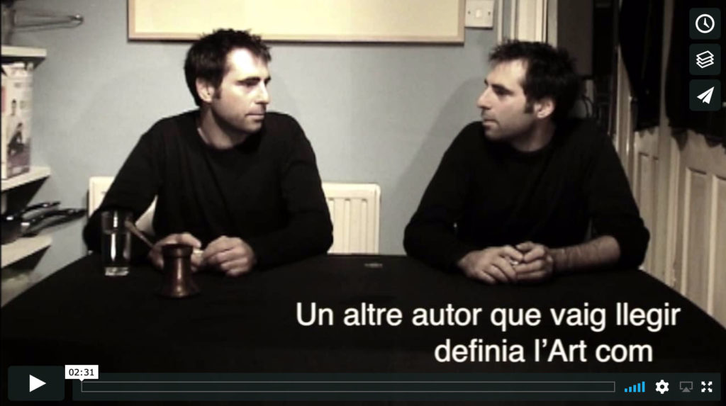 Conversation about art [2005] (Catalan)